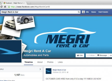 Meğri rent a car facebook kapak 1