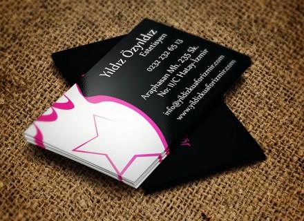 yıldız kuaför kartvizit tasarımı 1