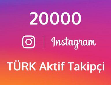 20000 Instagram Aktif Türk Takipçi